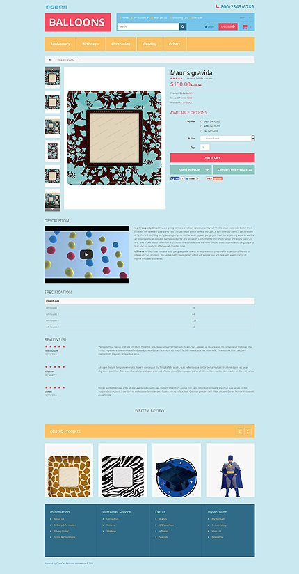 ADOBE Photoshop Template 53448 Home Page Screenshot