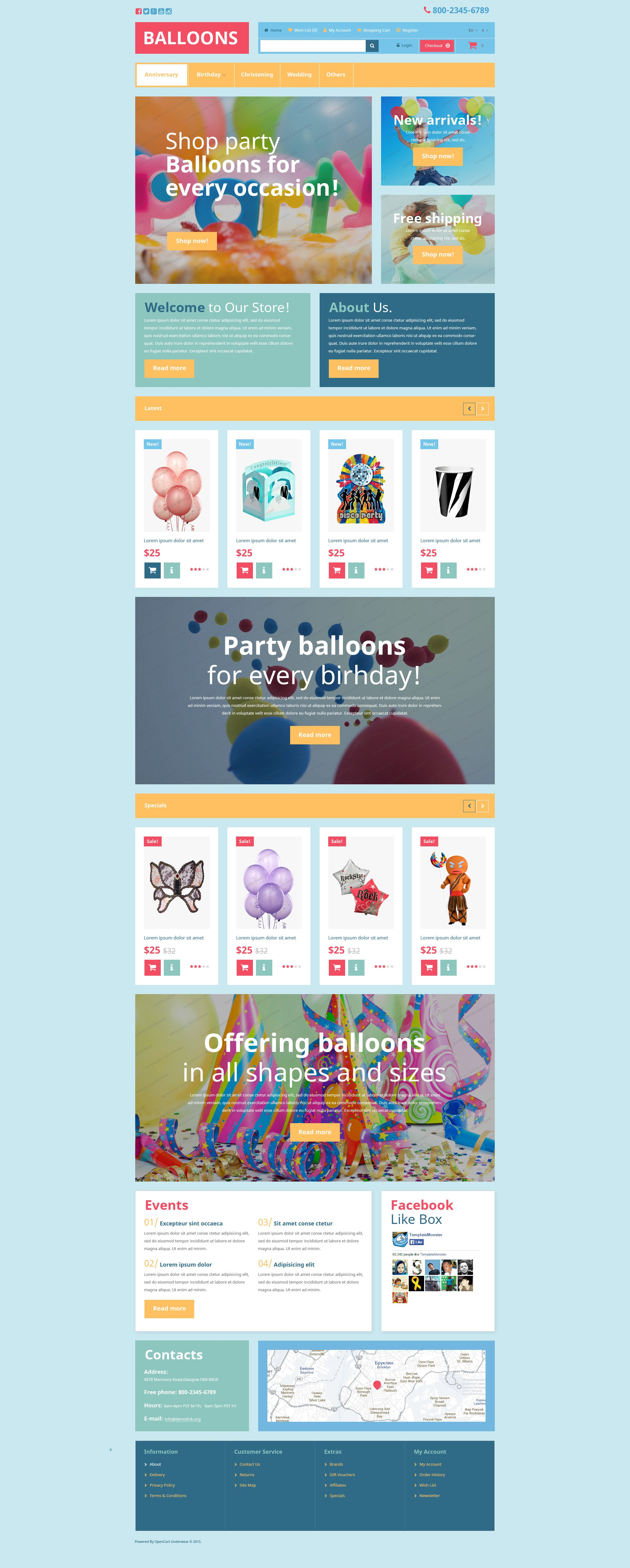 The Balloons Get OpenCart Design 53448, one of the best OpenCart templates of its kind (entertainment, most popular), also known as balloons get OpenCart template, balloon OpenCart template, occasion OpenCart template, party OpenCart template, kids OpenCart template, foil OpenCart template, latex OpenCart template, Helium store and related with balloons get, balloon, occasion, party, kids, foil, latex, Helium store, etc.