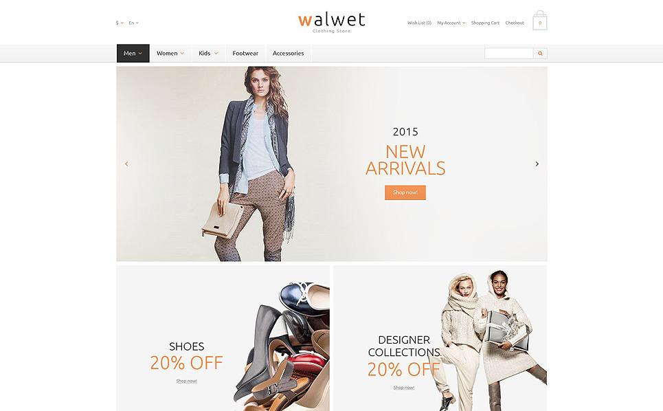 """OpenCart Vorlage namens """"Geschäfte mit trendigen Outfits"""" New Screenshots BIG"""