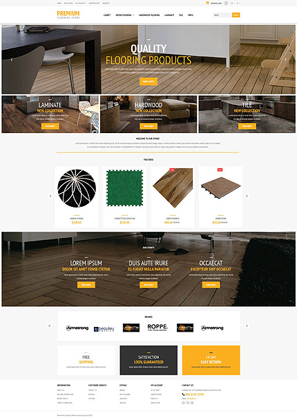 ADOBE Photoshop Template 53450 Home Page Screenshot