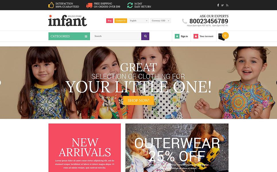 Tema PrestaShop  Flexível para Sites de Loja do Bebê №53453 New Screenshots BIG