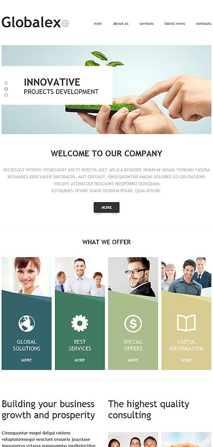 Joomla Theme/Template 53454 Main Page Screenshot