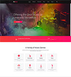 Entertainment Website  Template 53455