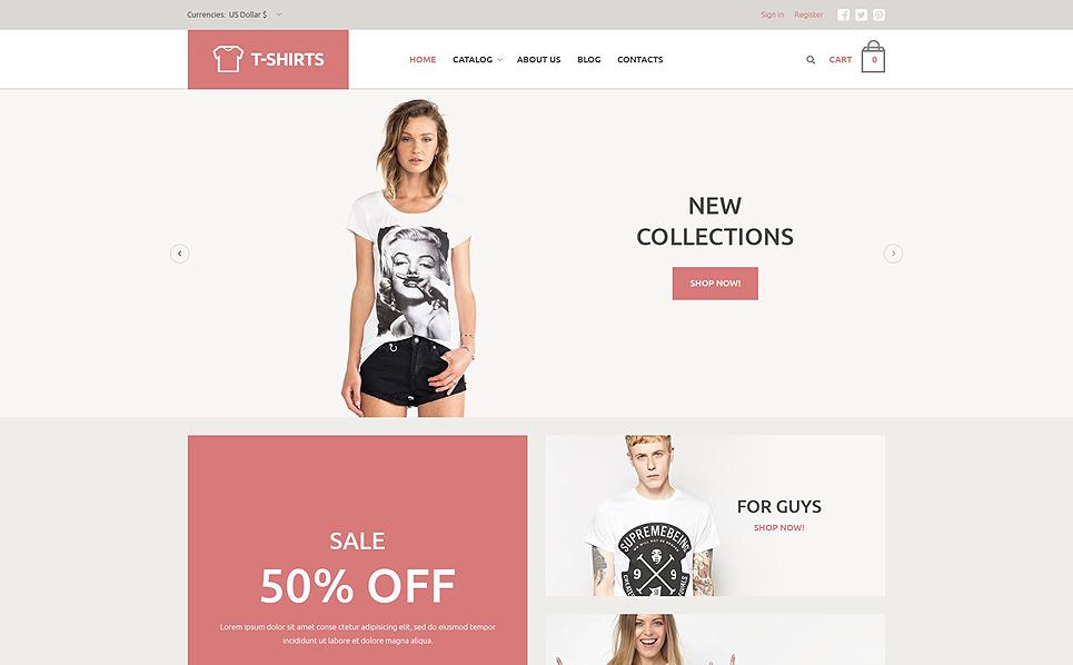 Responsive T-shirt Mağazası  Virtuemart Şablonu New Screenshots BIG