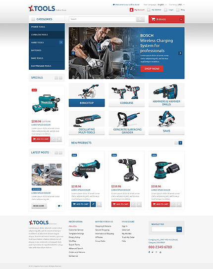 Magento Theme/Template 53458 Main Page Screenshot