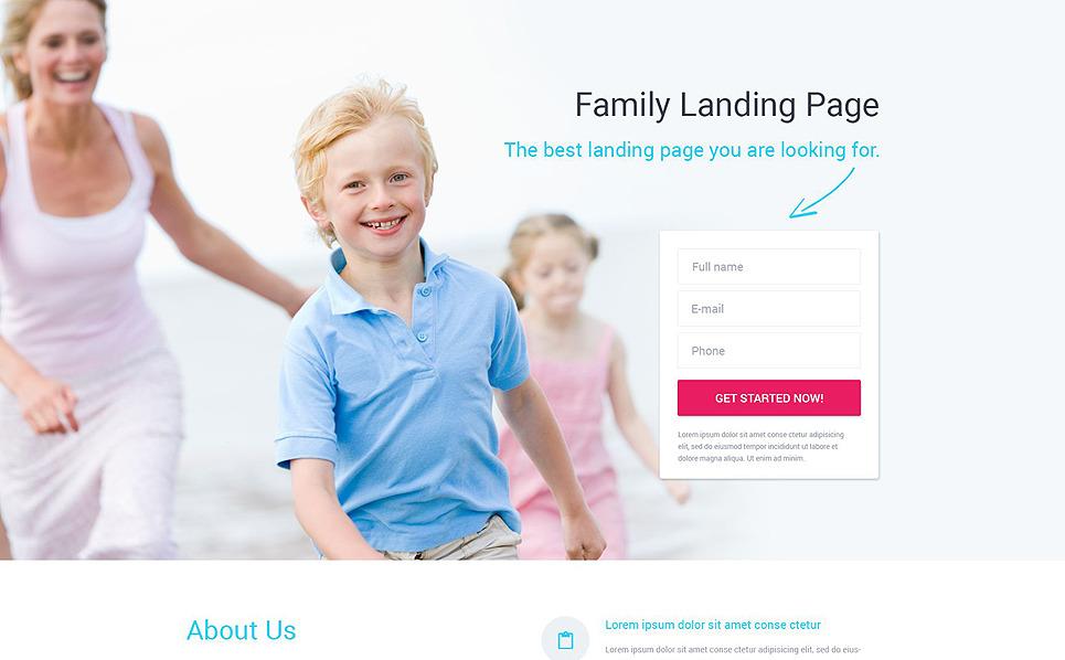 Modèle  De Page D'atterrissage adaptatif  pour site de Centre familial  New Screenshots BIG