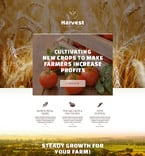 Agriculture Landing Page  Template 53462