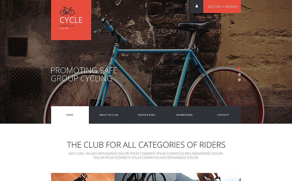 Responzivní Šablona webových stránek na téma Cyklistika New Screenshots BIG