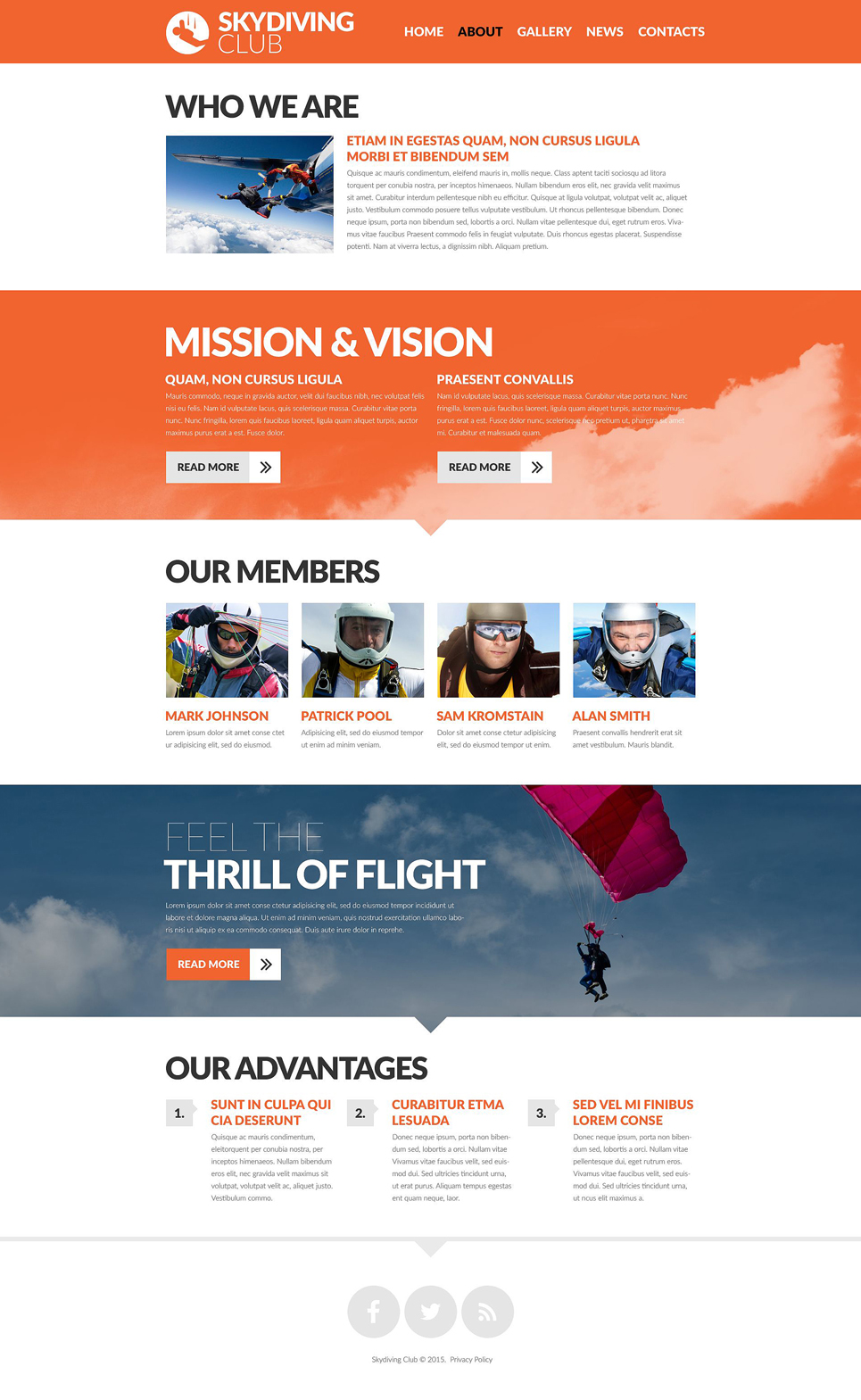 Skydiving Club  53469 By Wt
