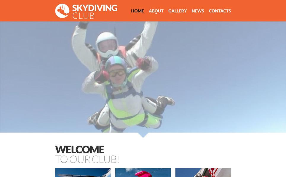 Responsive Website template over Parachutespringen  New Screenshots BIG