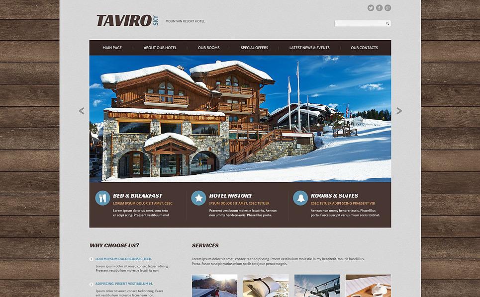 Reszponzív Szállodák  Weboldal sablon New Screenshots BIG