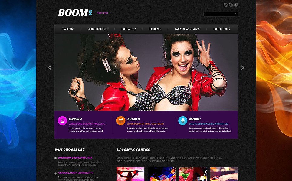 Reszponzív Szórakozóhelyek  Weboldal sablon New Screenshots BIG