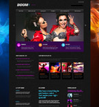 Night Club Website  Template 53472