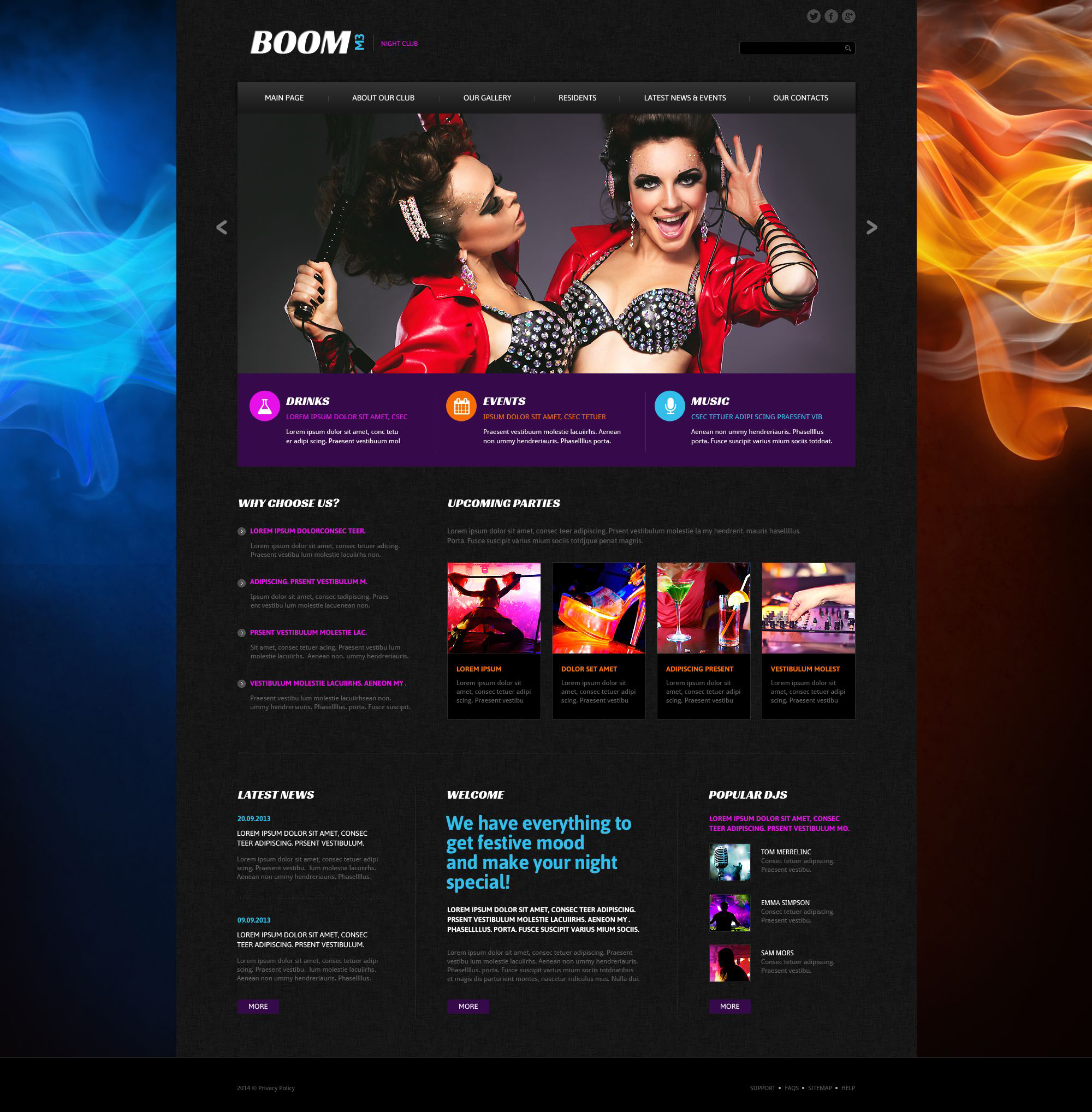 The Boom Night Club Responsive Javascript Animated Design 53472, one of the best website templates of its kind (night club, most popular), also known as boom night club website template, music website template, dances website template, dancers website template, entertainment website template, joy website template, energy website template, free drinks website template, tickets website template, party website template, deejays website template, dj website template, events website template, beats website template, disks website template, songs website template, tunes website template, rhythms website template, gallery website template, photos website template, pictures website template, guests website template, participants website template, interview website template, stars website template, artists website template, funs website template, booking website template, mob website template, glamour girls website template, party website template, MC cocktail and related with boom night club, music, dances, dancers, entertainment, joy, energy, free drinks, tickets, party, deejays, dj, events, beats, disks, songs, tunes, rhythms, gallery, photos, pictures, guests, participants, interview, stars, artists, funs, booking, mob, glamour girls, party, MC cocktail, etc.