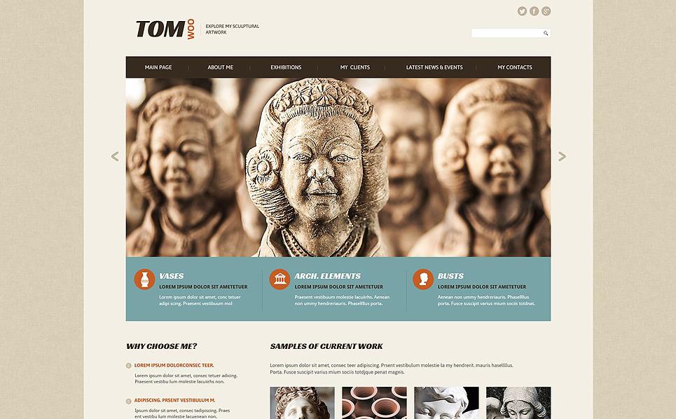 Reszponzív Szobrászat Weboldal sablon New Screenshots BIG