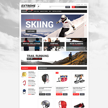 Preview image of Sport ZenCart Template No. 53474