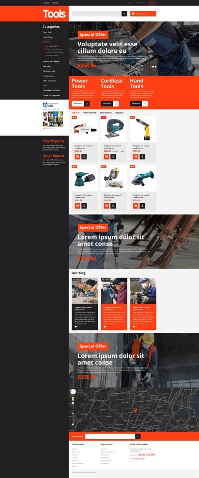 Vertyg & Utrustning Responsivt PrestaShop-tema