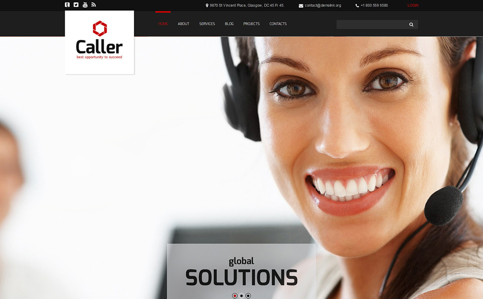 Responsive Joomla Template over Call Center New Screenshots BIG