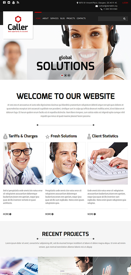 Joomla Theme/Template 53480 Main Page Screenshot
