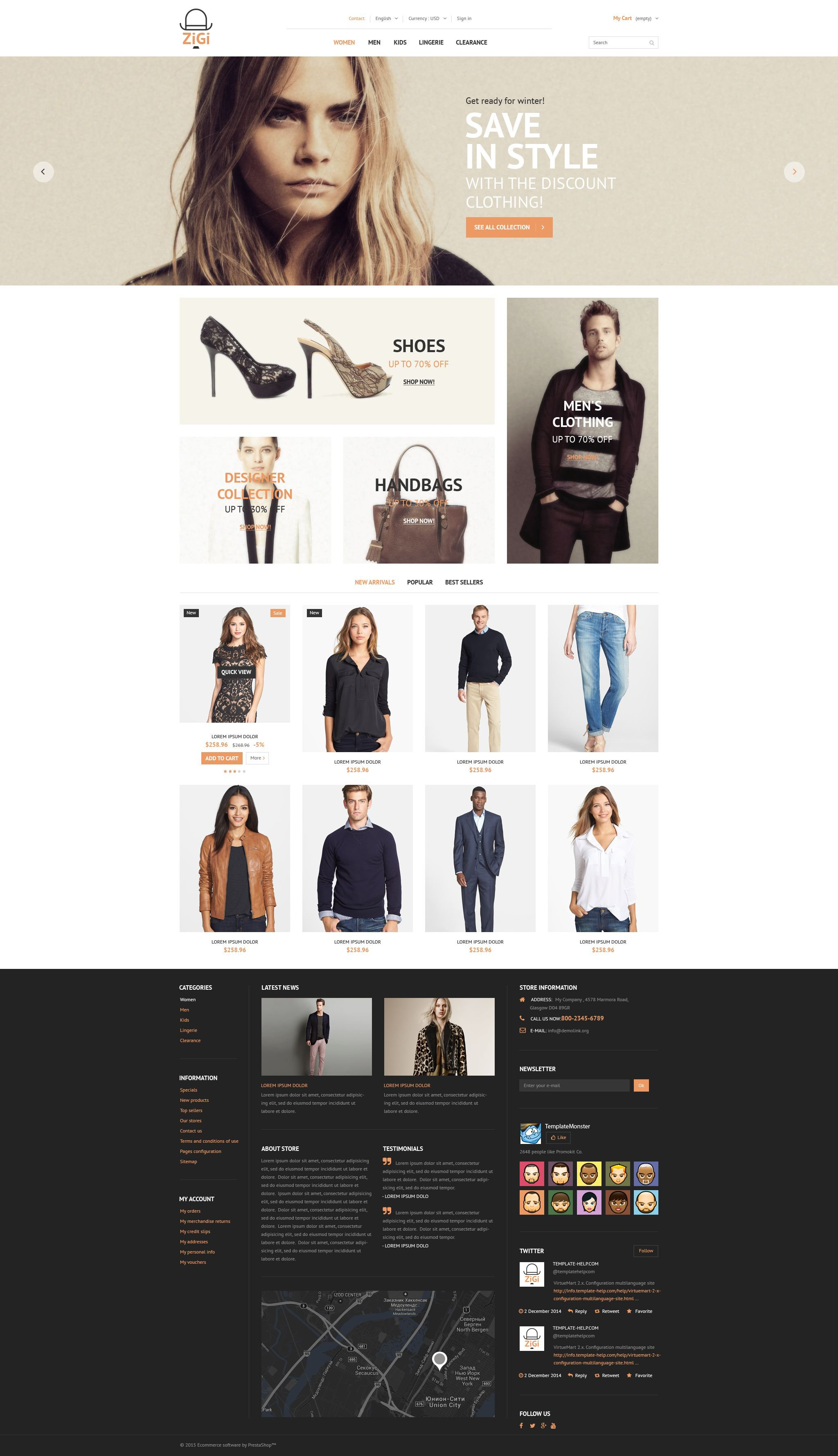 The Zigi Clothes PrestaShop Design 53483, one of the best PrestaShop themes of its kind (fashion, most popular), also known as zigi clothes PrestaShop template, wear PrestaShop template, clothing PrestaShop template, apparel PrestaShop template, work PrestaShop template, shoes PrestaShop template, gloves PrestaShop template, wear PrestaShop template, Safety Boots WEAR footwear PrestaShop template, shirts PrestaShop template, protective PrestaShop template, goggles PrestaShop template, protective PrestaShop template, eyewear and related with zigi clothes, wear, clothing, apparel, work, shoes, gloves, wear, Safety Boots WEAR footwear, shirts, protective, goggles, protective, eyewear, etc.