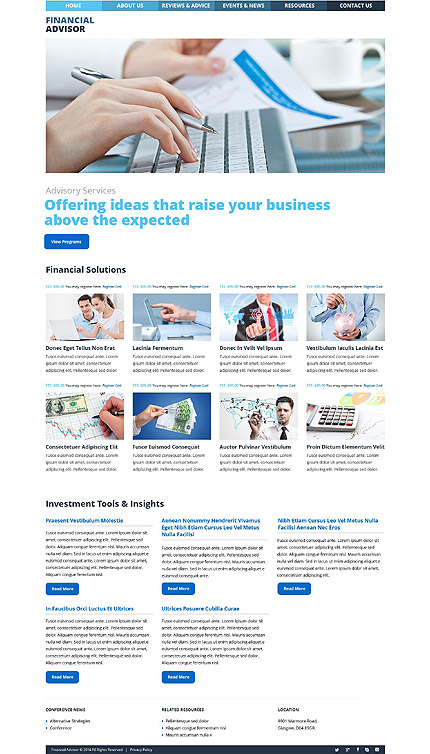 WordPress Theme/Template 53487 Main Page Screenshot
