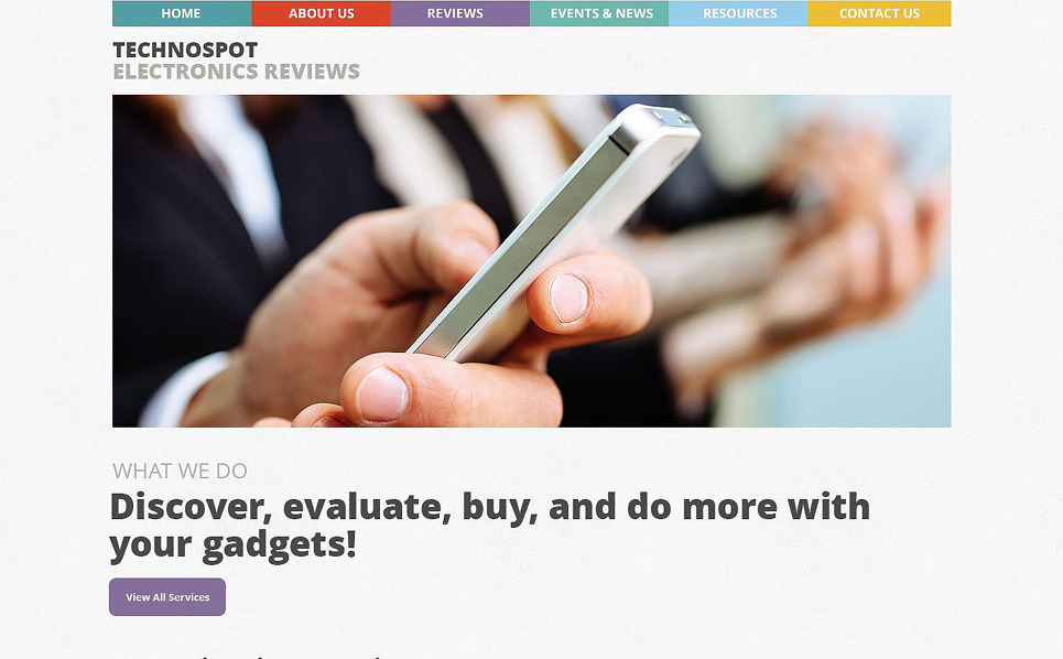 Reszponzív Vélemények WordPress sablon New Screenshots BIG