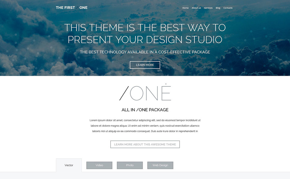 Responzivní WordPress motiv na téma Designové studio New Screenshots BIG