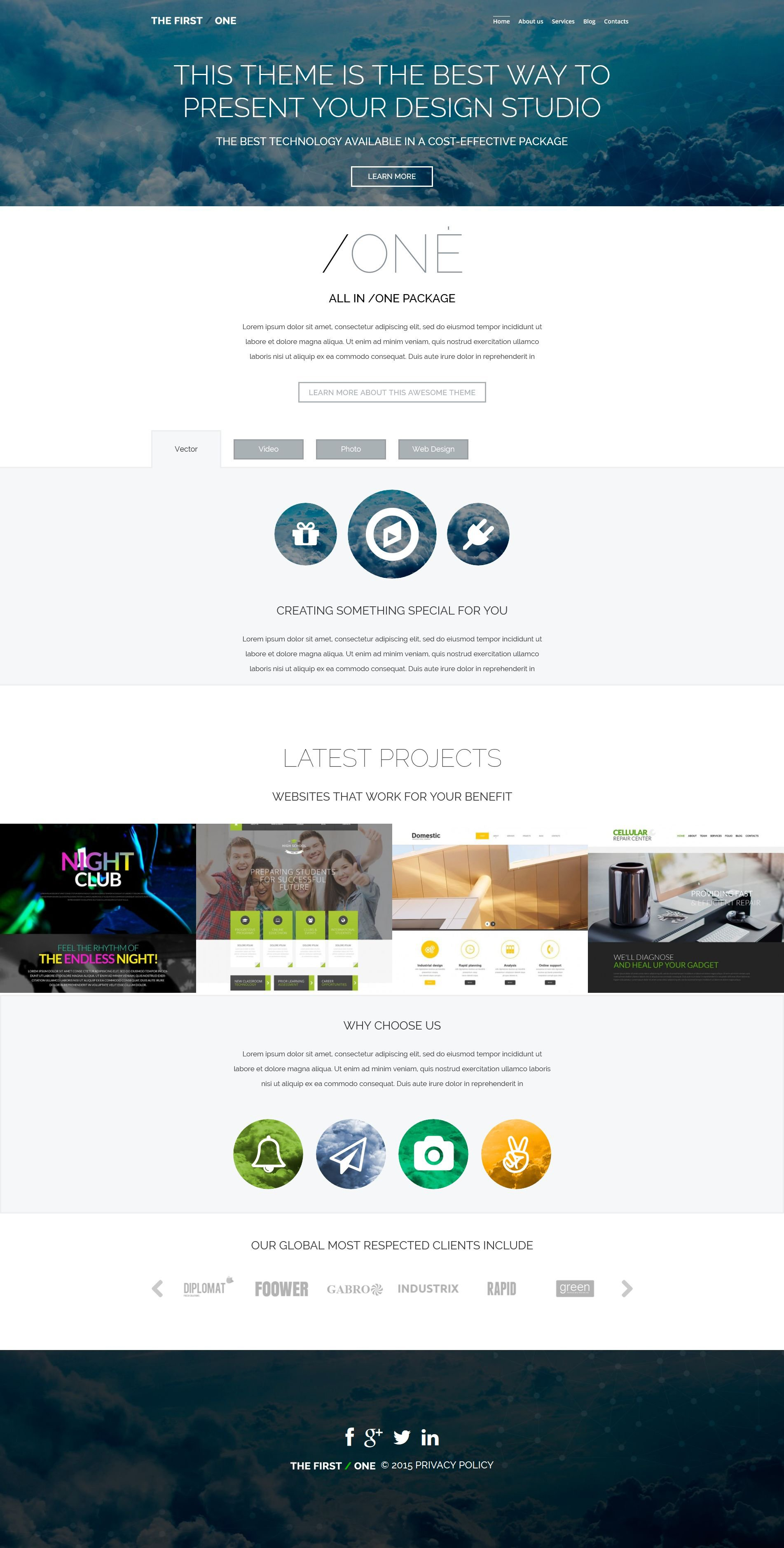 The The First Design Agency Studio WordPress Design 53491, one of the best WordPress themes of its kind (web design, most popular), also known as the first design agency studio WordPress template, creative art gallery WordPress template, artists WordPress template, painting WordPress template, painters WordPress template, web development WordPress template, webmasters WordPress template, designers WordPress template, internet WordPress template, www WordPress template, sites WordPress template, web design WordPress template, webpage WordPress template, personal portfolio and related with the first design agency studio, creative art gallery, artists, painting, painters, web development, webmasters, designers, internet, www, sites, web design, webpage, personal portfolio, etc.
