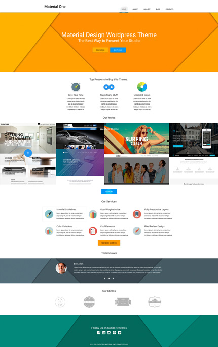 WordPress Theme/Template 53492 Main Page Screenshot