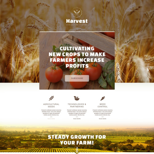 Harvest - Responsive Landing Page Template