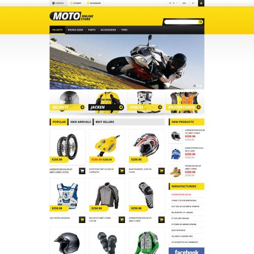 Moto Online Store - PrestaShop Template based on Bootstrap