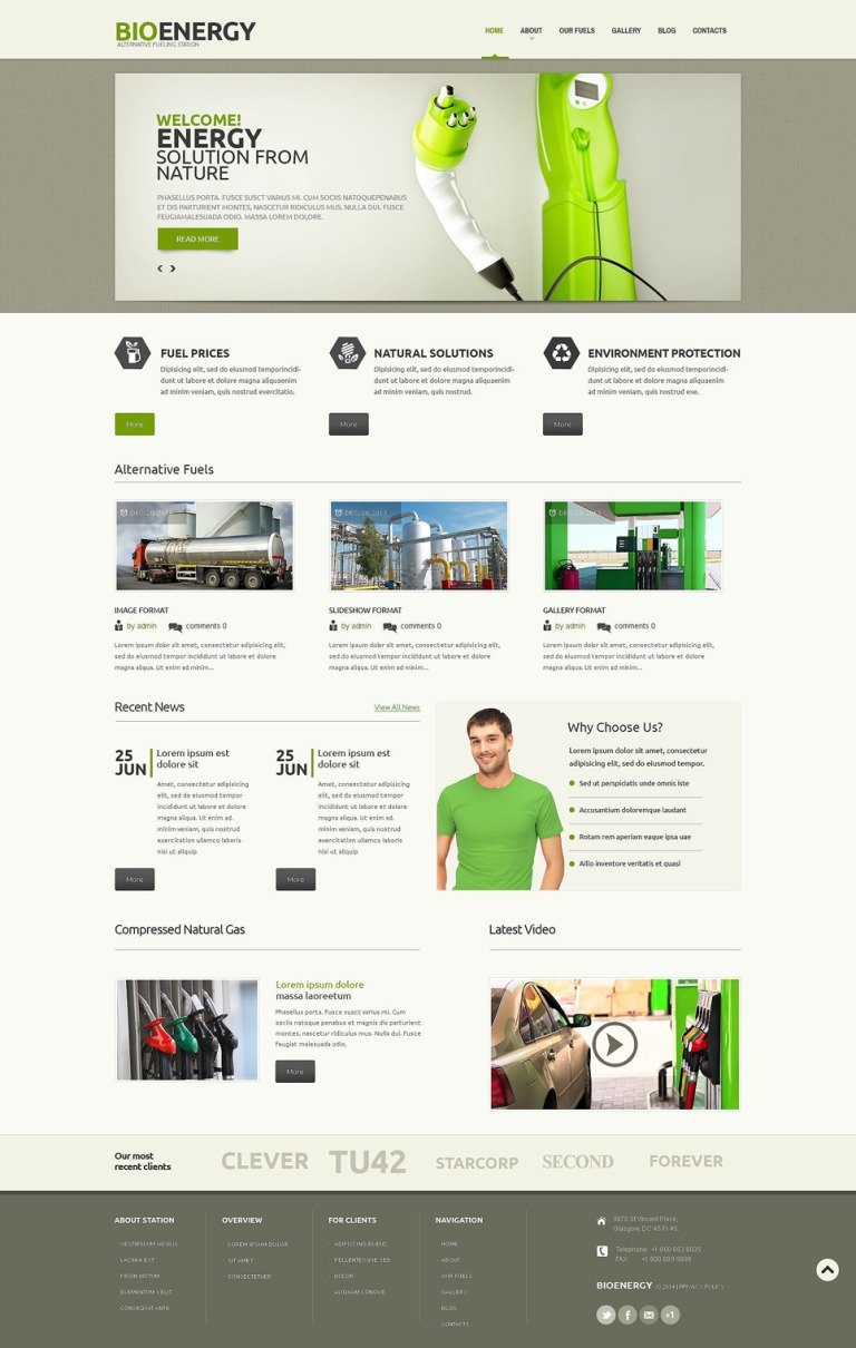 Biofuel Responsive WordPress Theme New Screenshots BIG