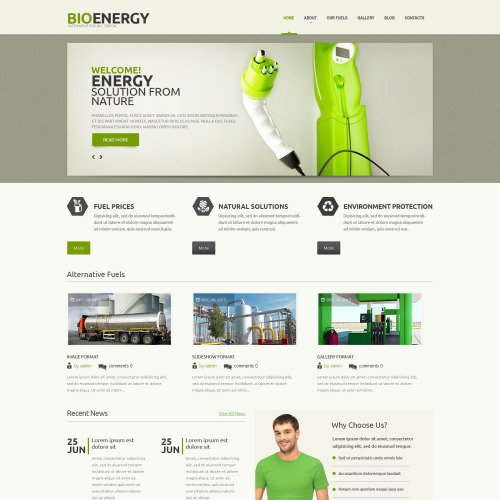 Bioenergy - WordPress Template based on Bootstrap