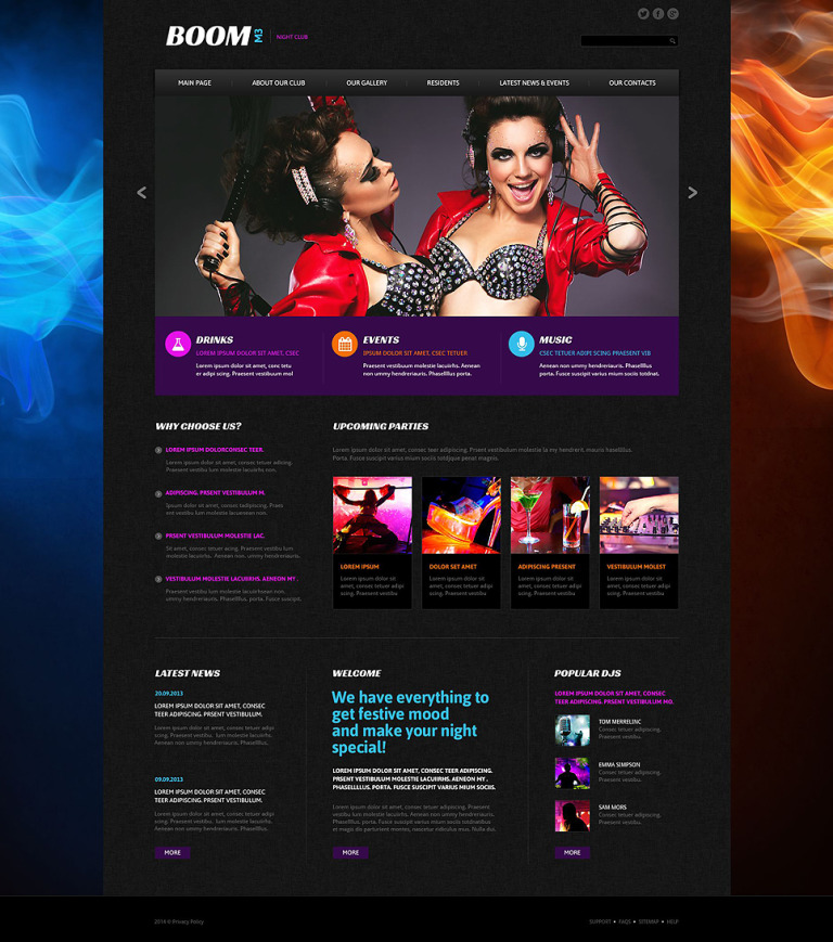 Boom M3 Website Template New Screenshots BIG