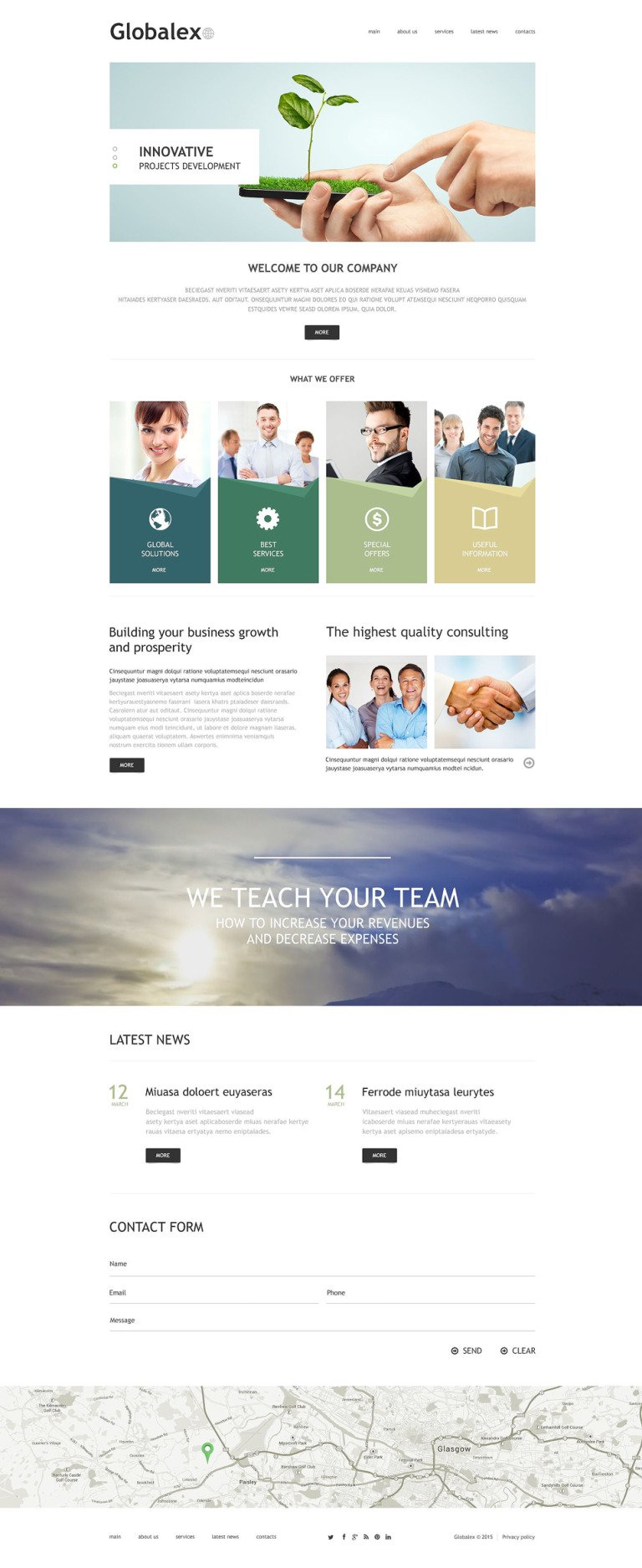 Business Agency Joomla Template New Screenshots BIG