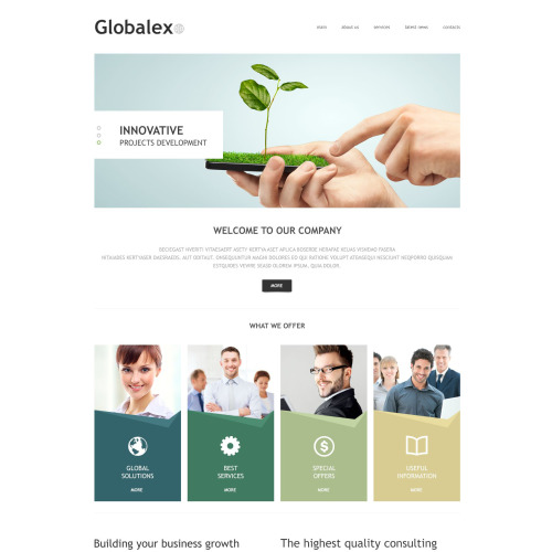 Globalex - Joomla! Template based on Bootstrap