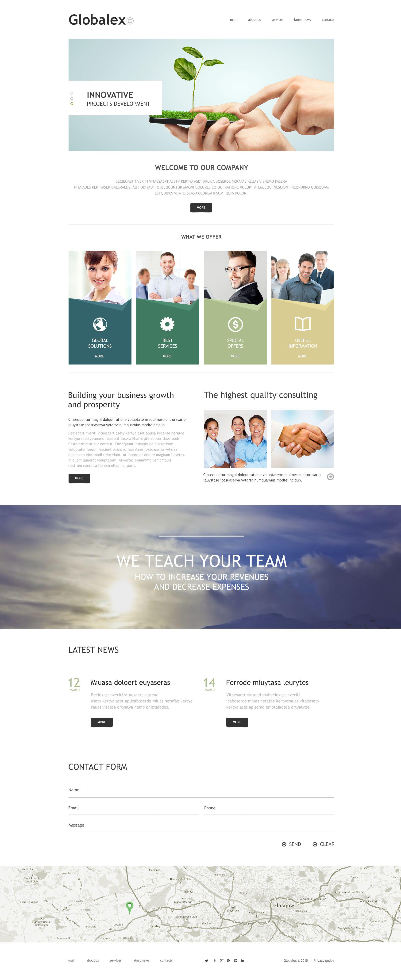 Business Agency Template Joomla №53454 - captura de tela