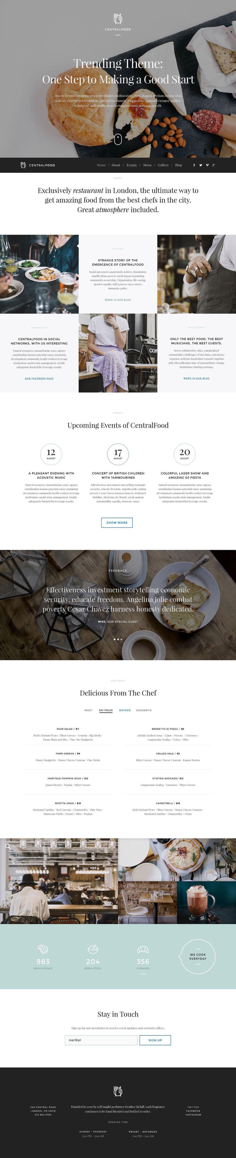 Cafe and Restaurant Responsive WordPress Theme New Screenshots BIG
