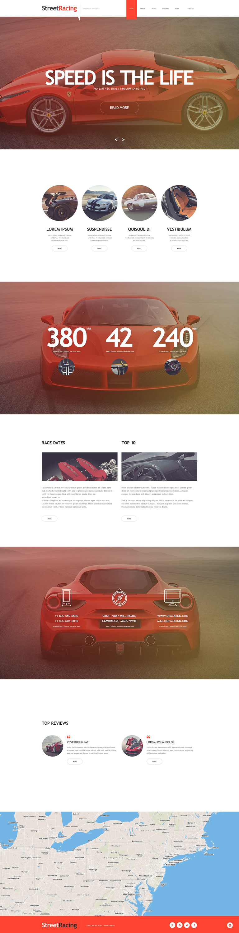 Car Racing Muse Template New Screenshots BIG