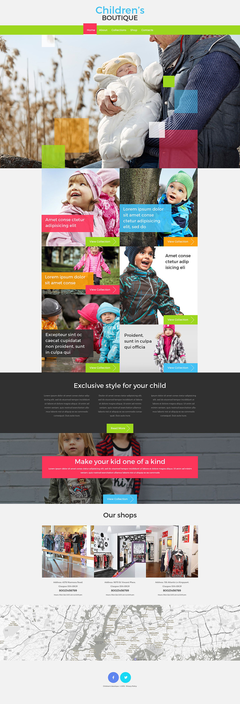 Children's Boutique Website Template New Screenshots BIG