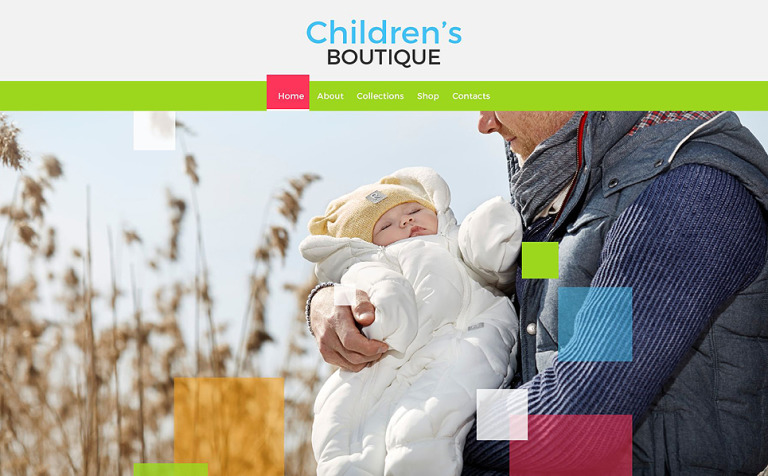 Children's Boutique Website Template