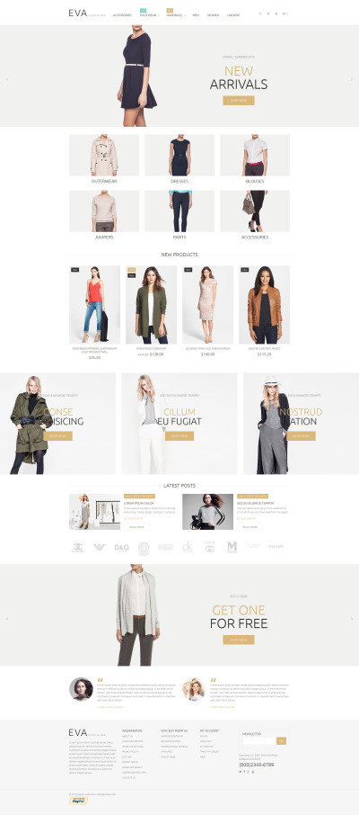 Clothes Store Magento Theme #53452