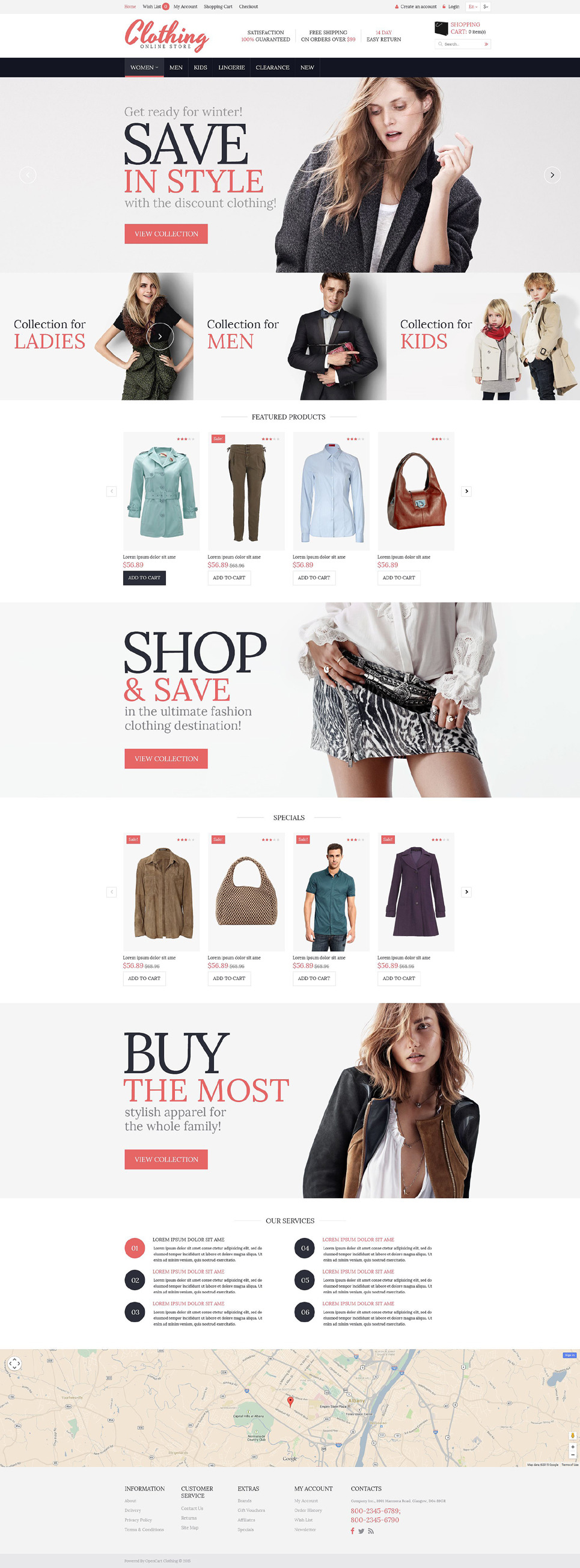 Clothing for Everyone OpenCart Template New Screenshots BIG
