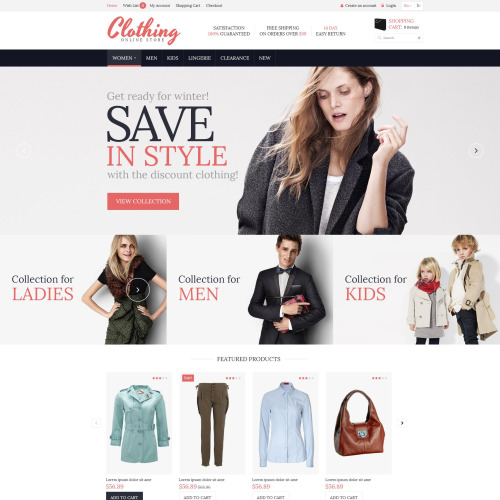 Clothing  - OpenCart Template based on Bootstrap
