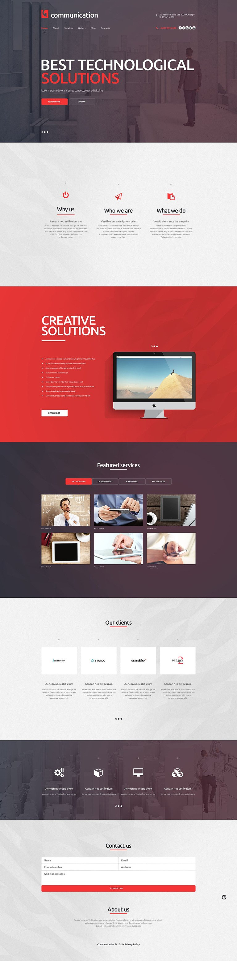 Communications Company WordPress Theme New Screenshots BIG