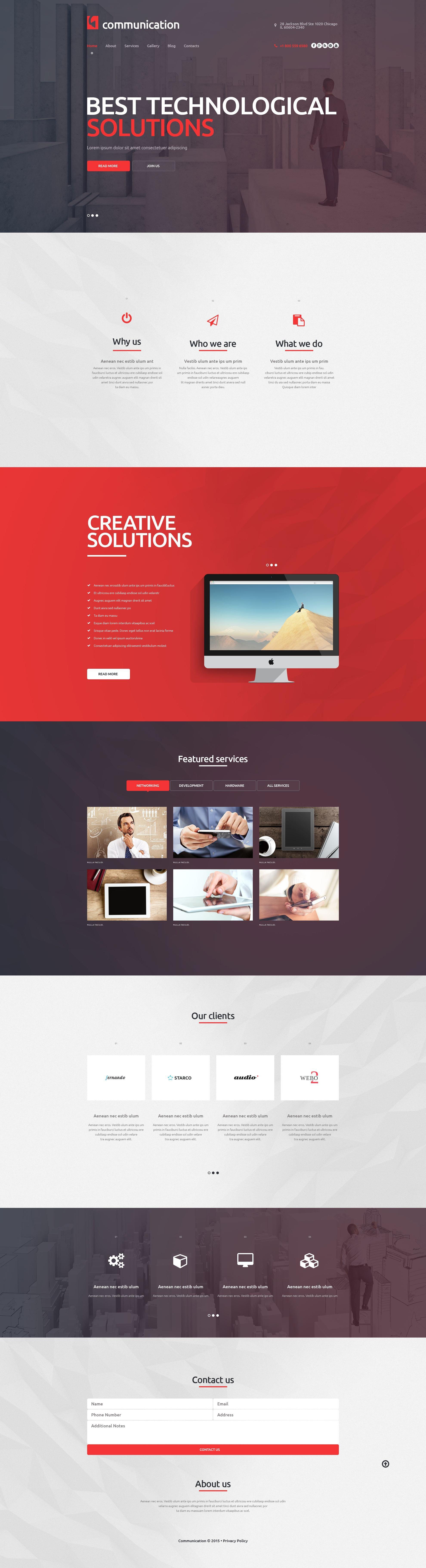 Communications Company WordPress Theme - screenshot