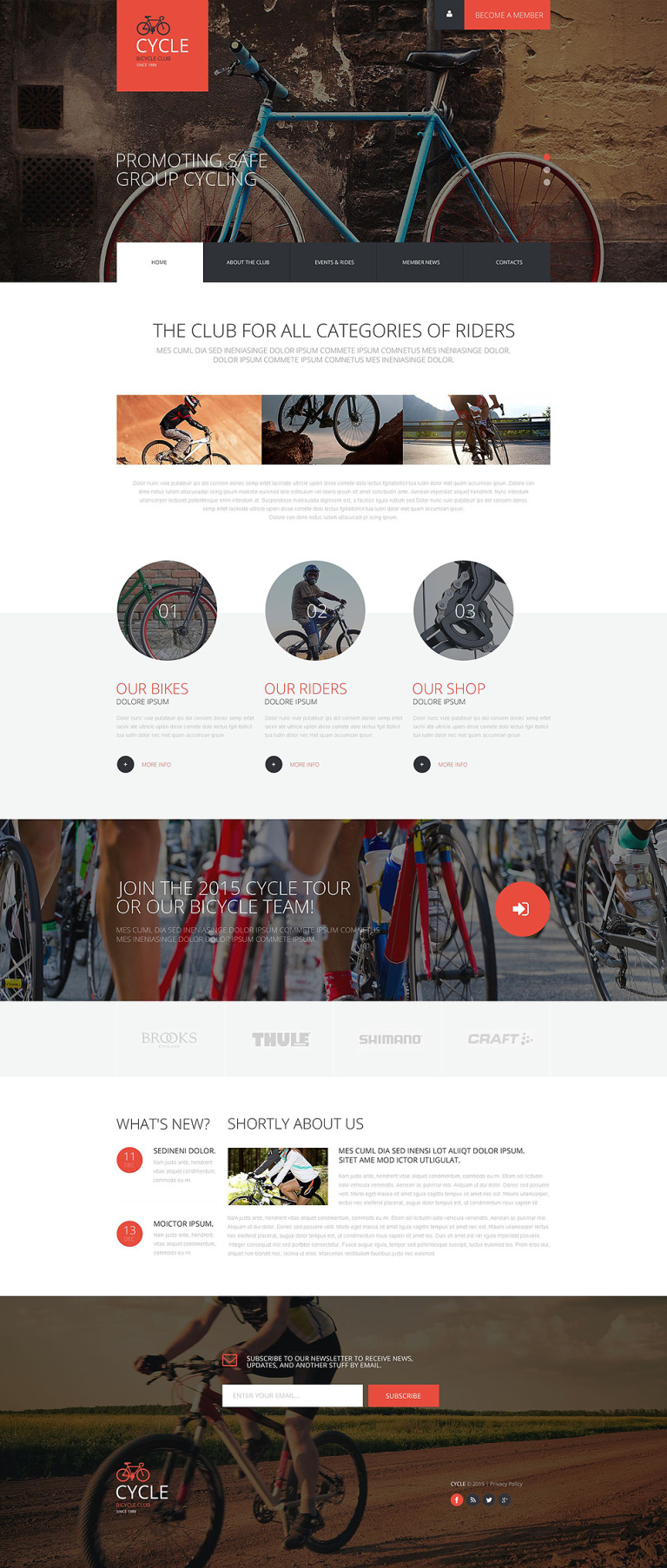 Cycling Club Website Template New Screenshots BIG