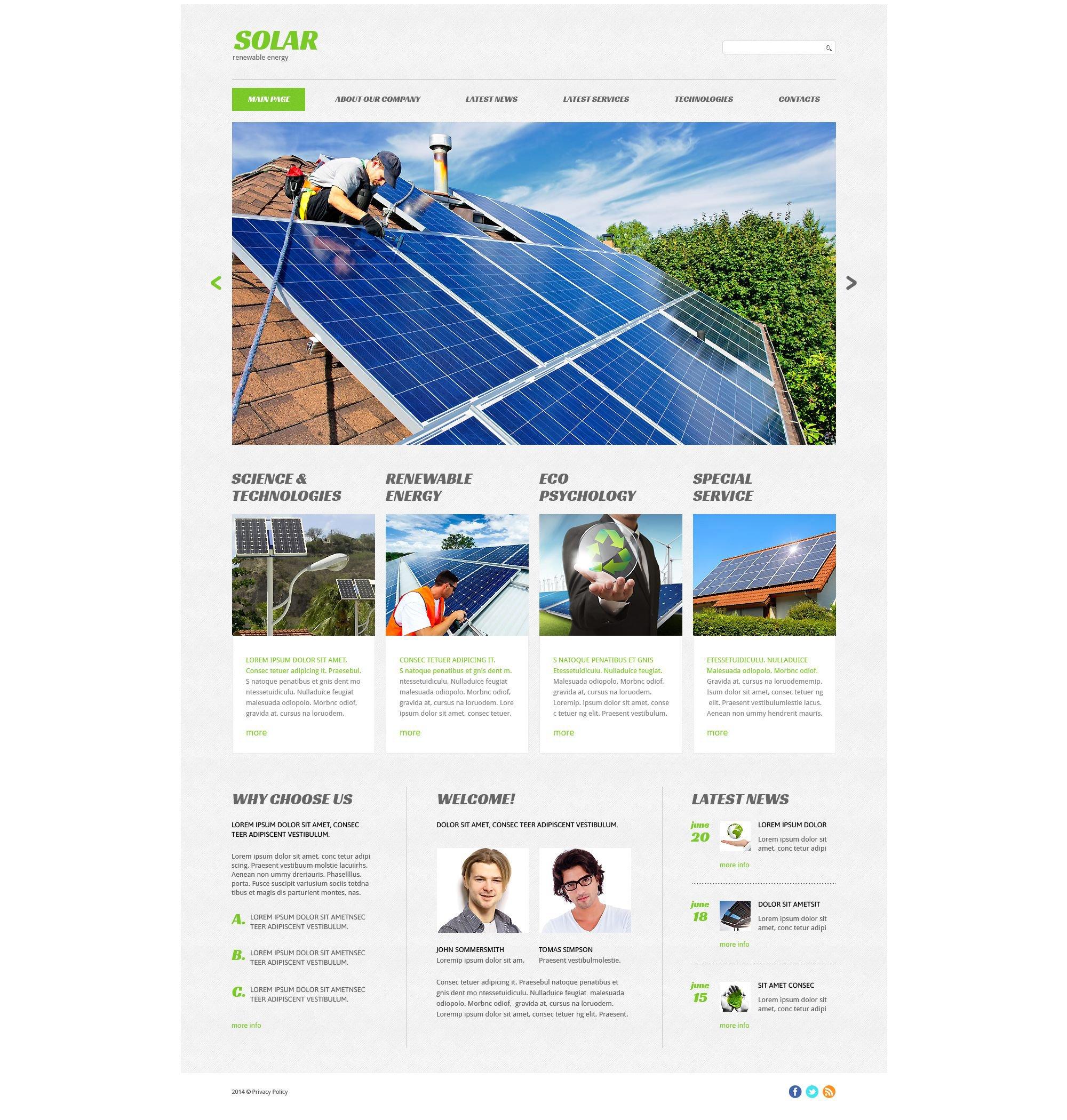 15+ Best Solar Energy Website Templates
