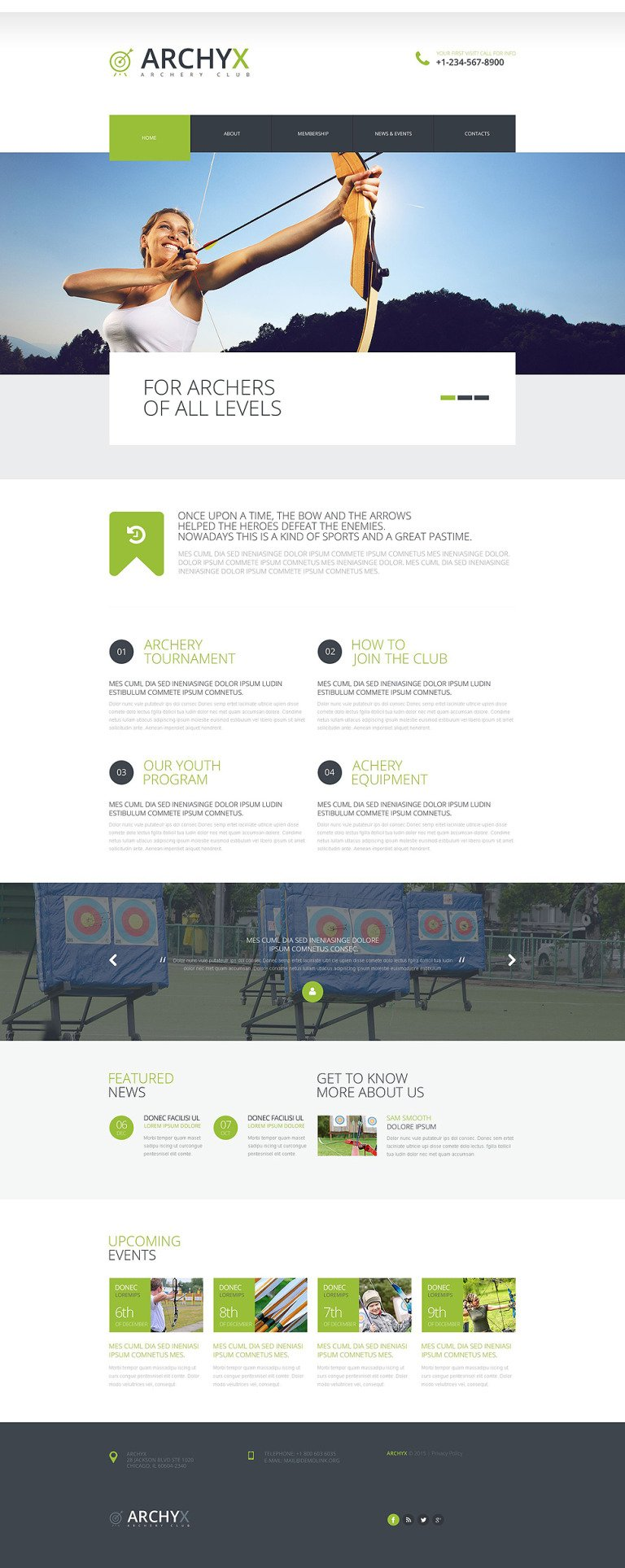 Effective Sports Website Website Template New Screenshots BIG