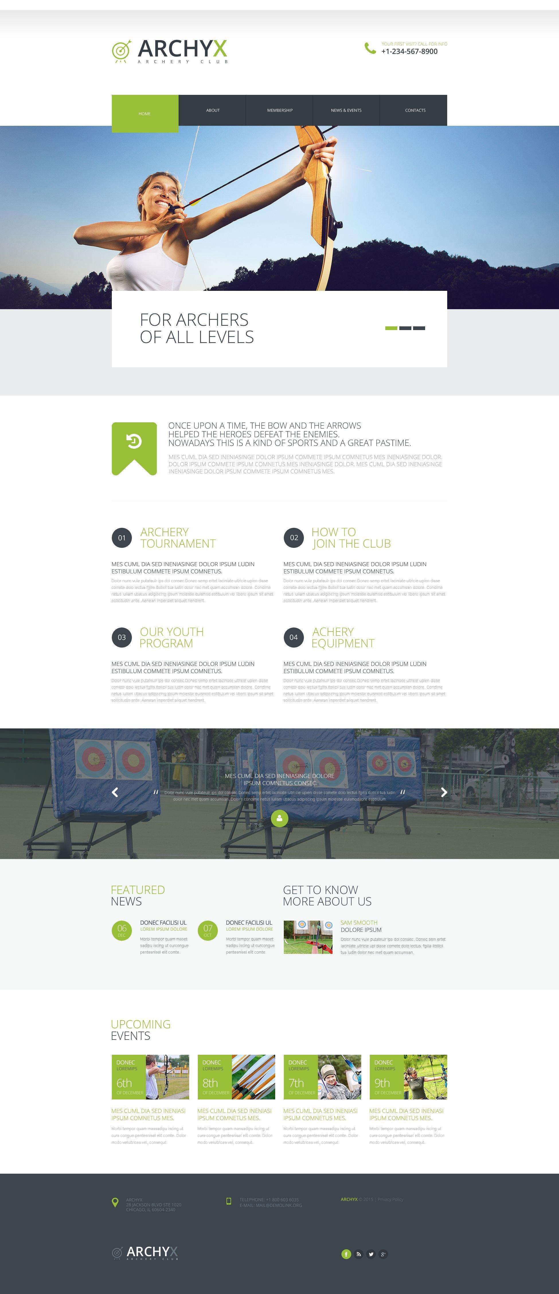 Effective Sports Website Website Template